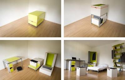 10 piezas de muebles transformables arquigeek for Muebles transformables