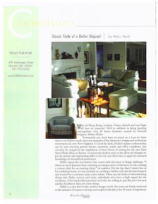 Media Talk   Heller Furniture In South Shore Magazine