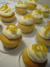 Mini Vanilla Cupcakes Lemon Buttercream Candied Lemon Rind