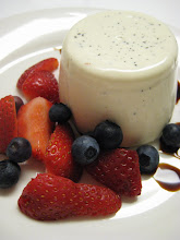 Vanilla Panna Cotta with Berries & Aged Balsamic Vinegar