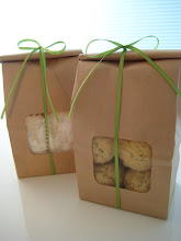One-Dozen Gift Bags Lavender Vanilla Shortbread (left) Rosemary Parmesan Shortbread (right)