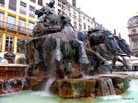 Fonte no centro de Lyon
