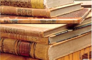 fotografia de livros antigos