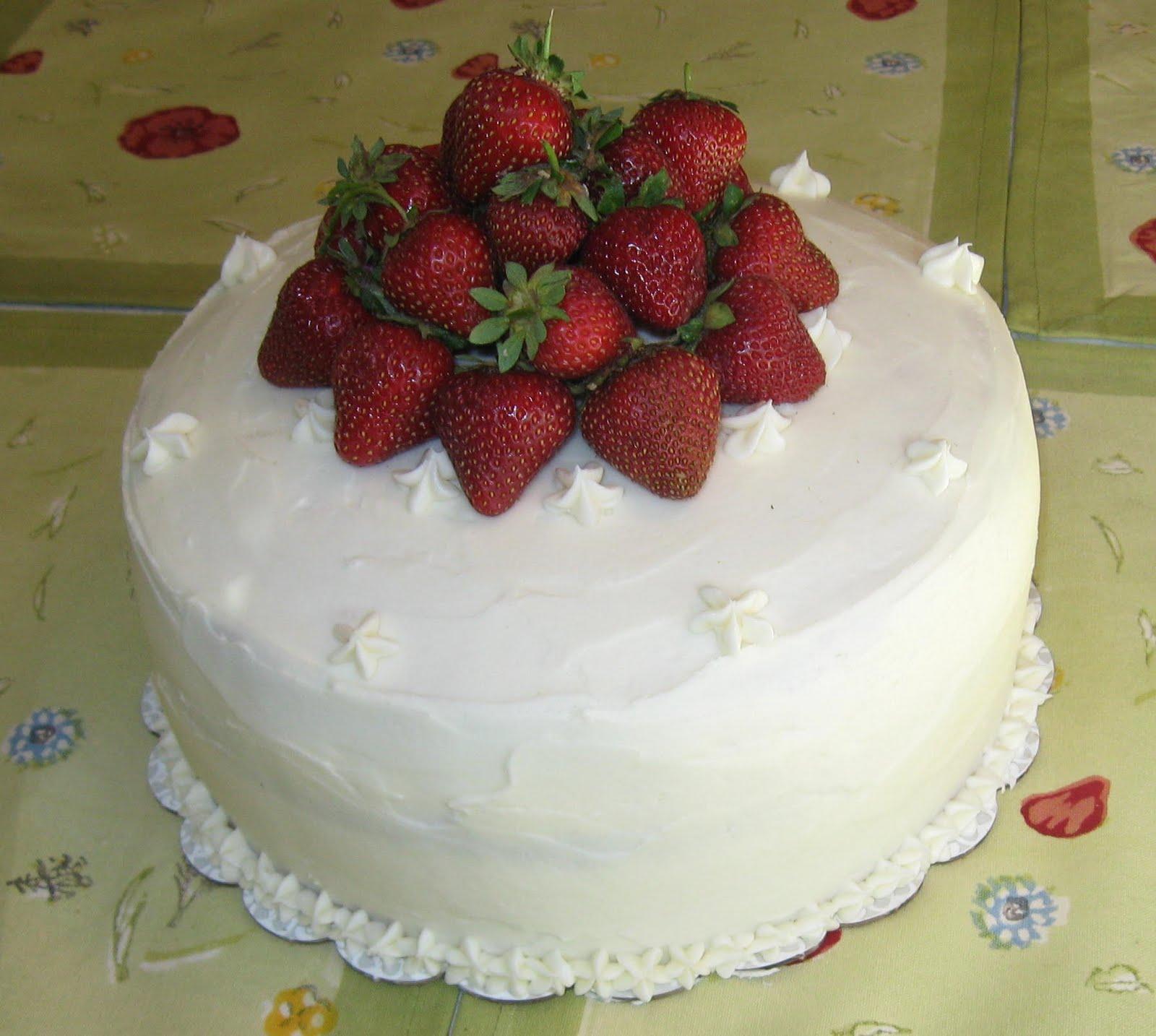 ... Farm, white cake, whipped creme fraiche, cream cheese icing