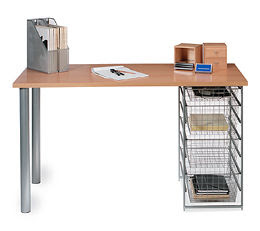 ... The Container Store Dorm Room Deal Platinum Sycamore For Elfa Desk  System ...