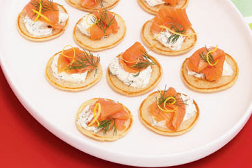 Blini with Smoked Salmon & Mascapone