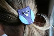 handmade felt hairclips for your little girlie