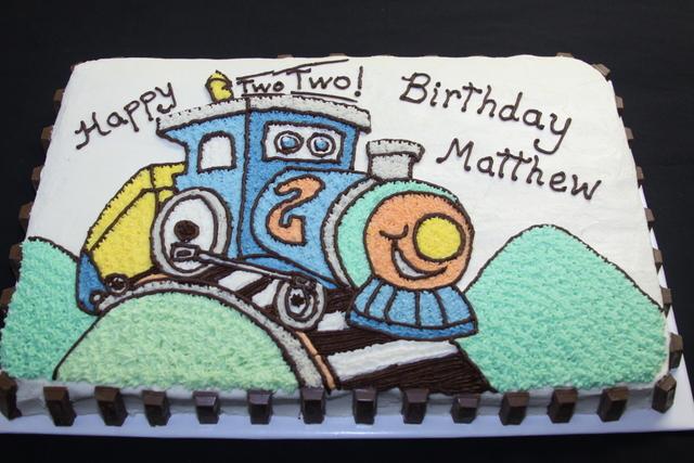 DigiCrumbs Train Birthday Cake Choo Or Should I Say Two