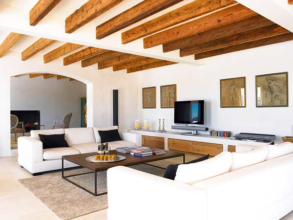 I want a house like this rustic chic living room - Salones de diseno minimalista ...