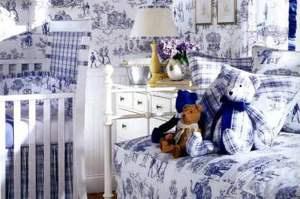 I want a house like this toile de jouy kids bedroom for Tessuti francesi arredamento
