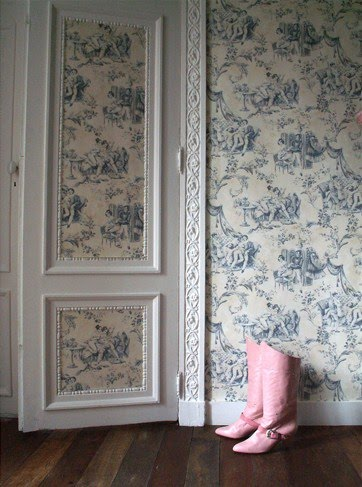 1000 images about toile de jouy on pinterest toile de jouy toile and toile wallpaper - Papier peint toile de jouy ...
