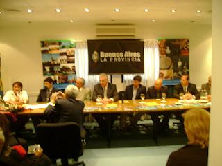 Conferencia de Prensa con las Autoridades de Capitán Sarmiento y la Prov. De Bs.As.