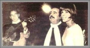 Horacio Guarany y María Helena en el Festival
