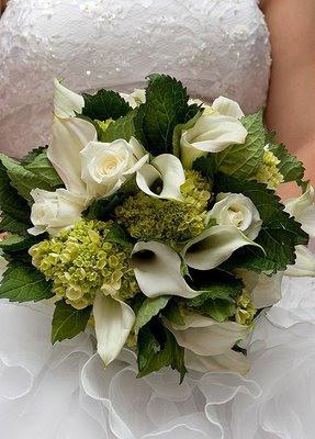 bouquet sposa ortensie calle rose