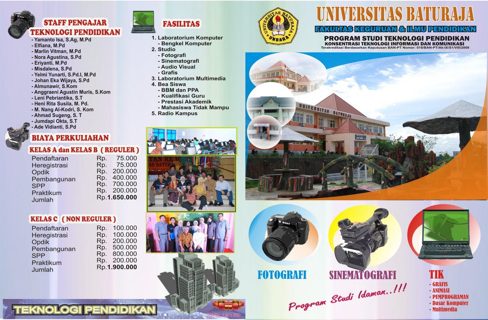 contoh-contoh universitas brosur sekolah menarik
