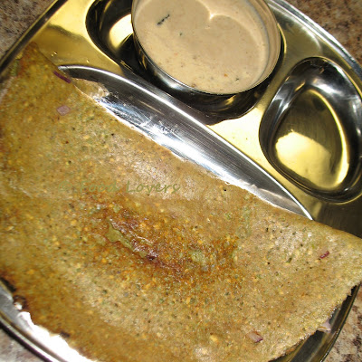 Pesarattu/Moong Sprouts Dosa