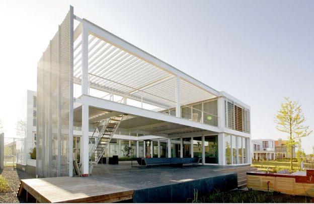 Casa de acero de archipelontwerpers blog arquitectura y - Estructuras de acero para casas ...