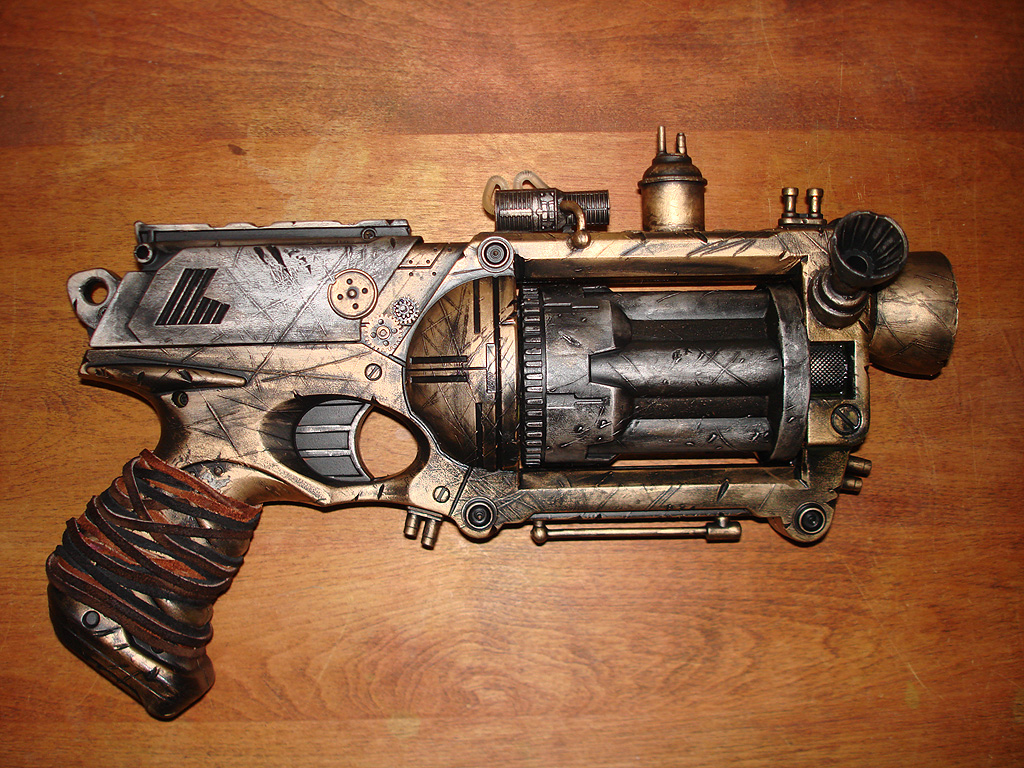 Steampunk Nerf Gun  Miniature Review