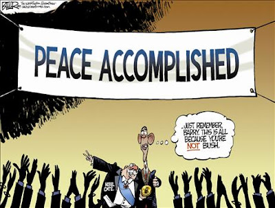 Peace Accomplished - Cartoon