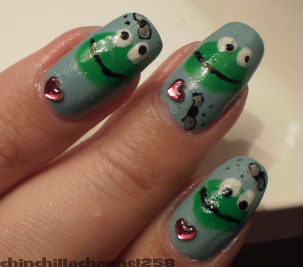 Frog Nail Art: CookingChinchillas: Frog Nail Design