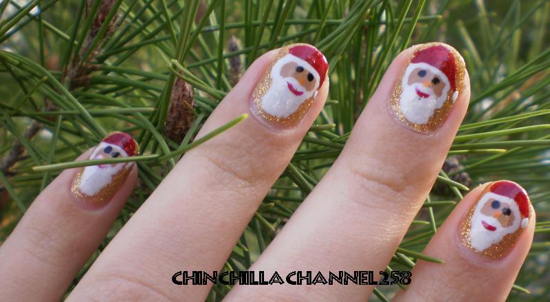 Cookingchinchillas Santa Claus Christmas Nail Art Design