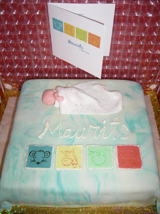 Doop taart voor Maurits