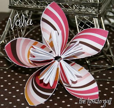 Amazing Handmade Five Petal Origami Paper Flower Tutorial by The How-To Gal