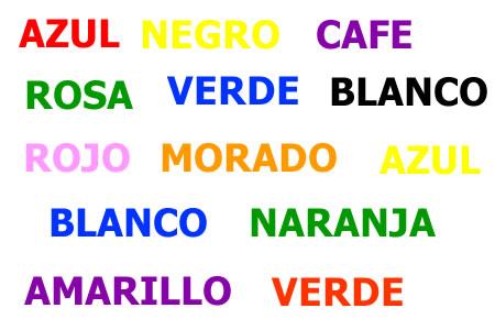 Di los colores que aparecen en estas letras