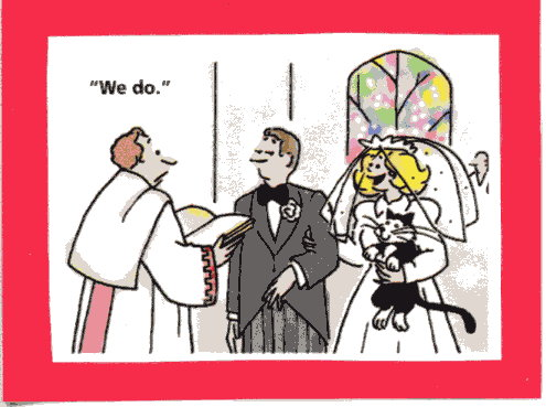 [cat+cartoon+wedding]