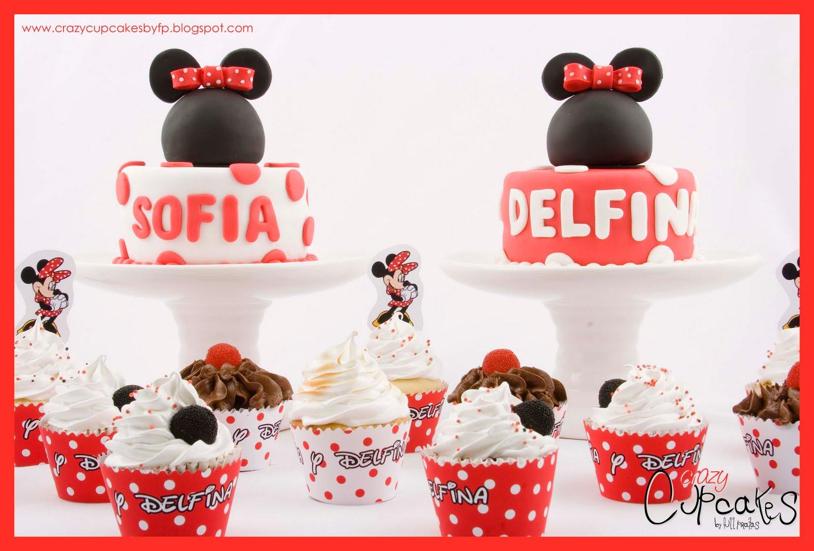 Tortas Y Cupcakes Con El Motivo De Minnie Mouse Clasica Quedaron