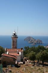 Le phare de Gelidonia sur le sentier Karaöz-Adrasan