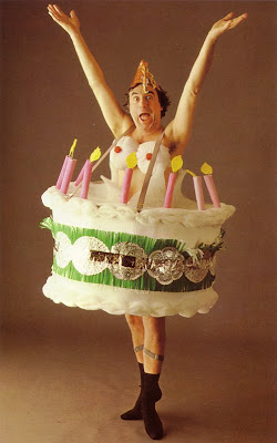 Naked Woman Popping Out Of Birthday Cake
