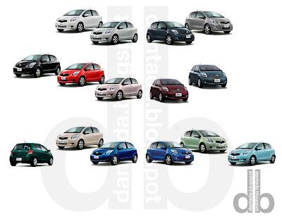 Toyota on Dantada  Auto  Toyota Vitz  En 15 Colores