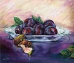 Pintura: Ciruelas e higos de Elsa Pérez