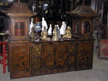 Above Are Two Very Creative Designs: Tibetan Shrine Cabinets With Built In  Prayer Wheel Cylinders. All Sorts Of Blessings With One Piece Of Furniture.