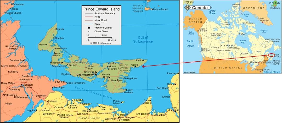 Longitude And Latitude Of Prince Edward Island