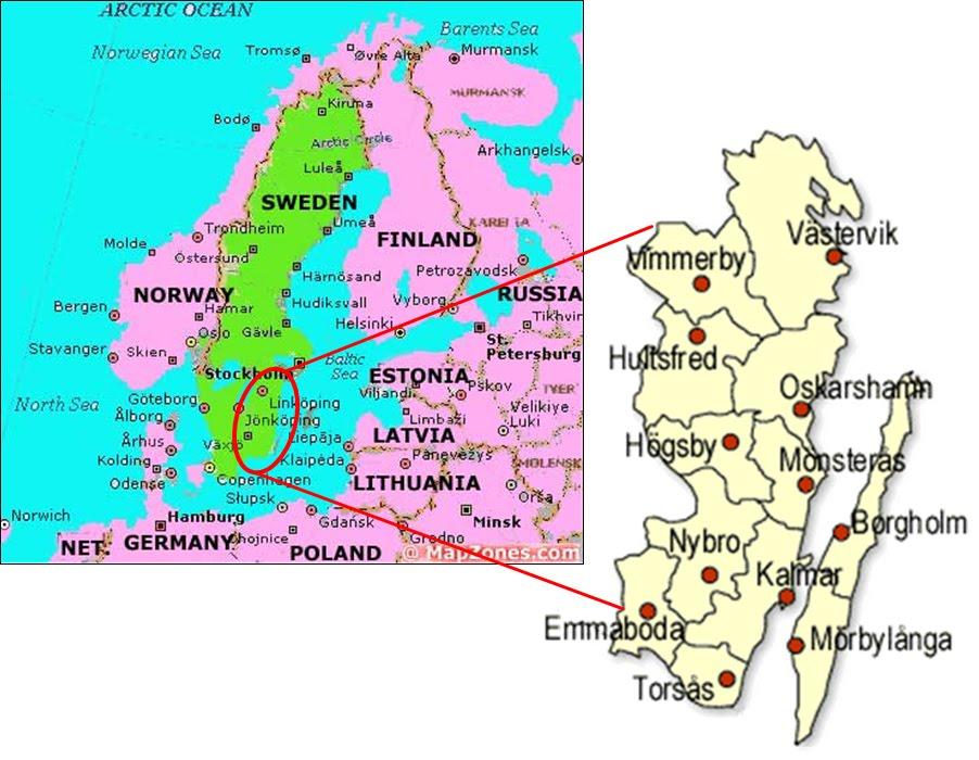 Kalmar map ile ilgili görsel sonucu Kalmar map