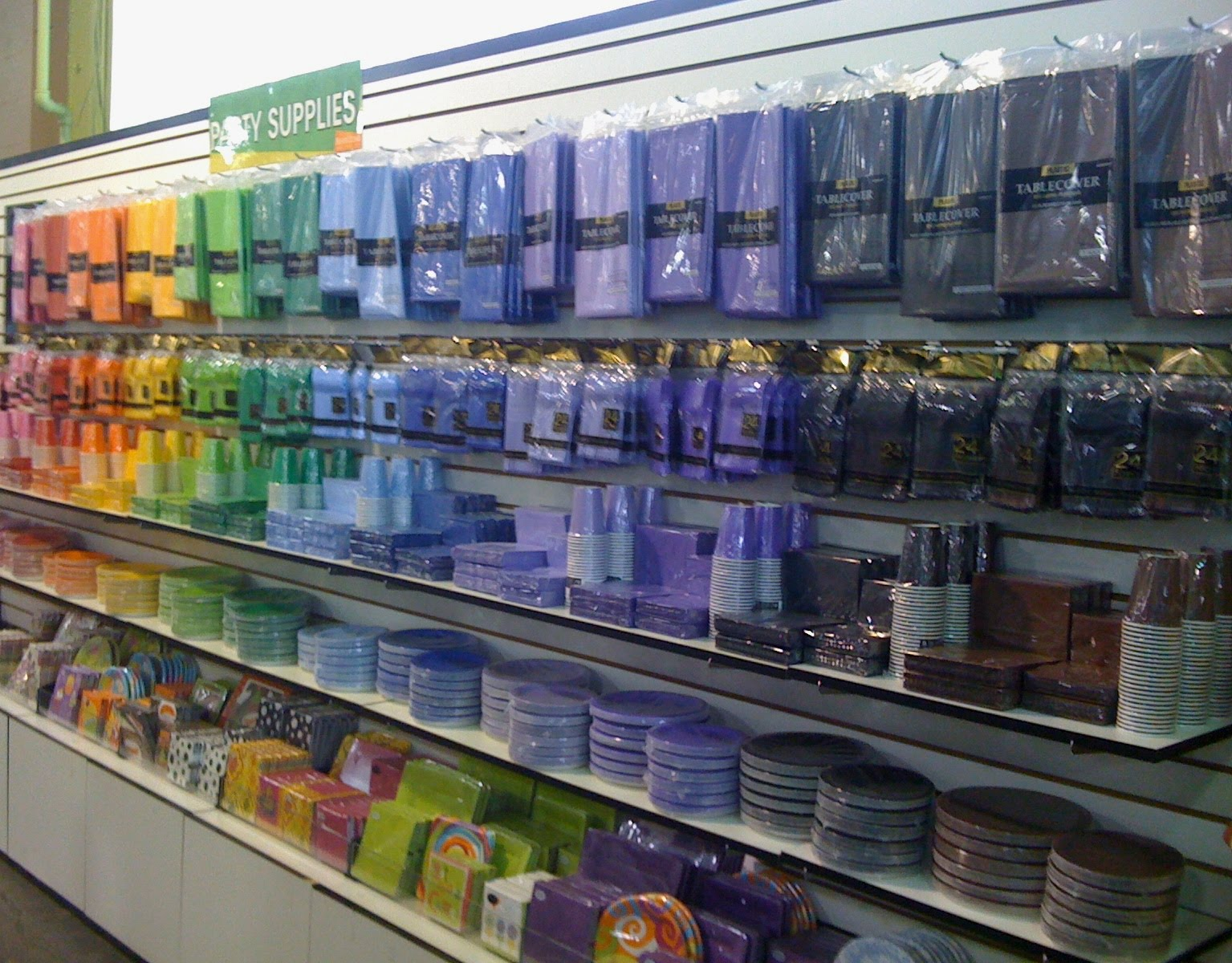Fortunately We Just Started Carrying Party Ware In All The Colors Of Rainbow At Our Seattle Store
