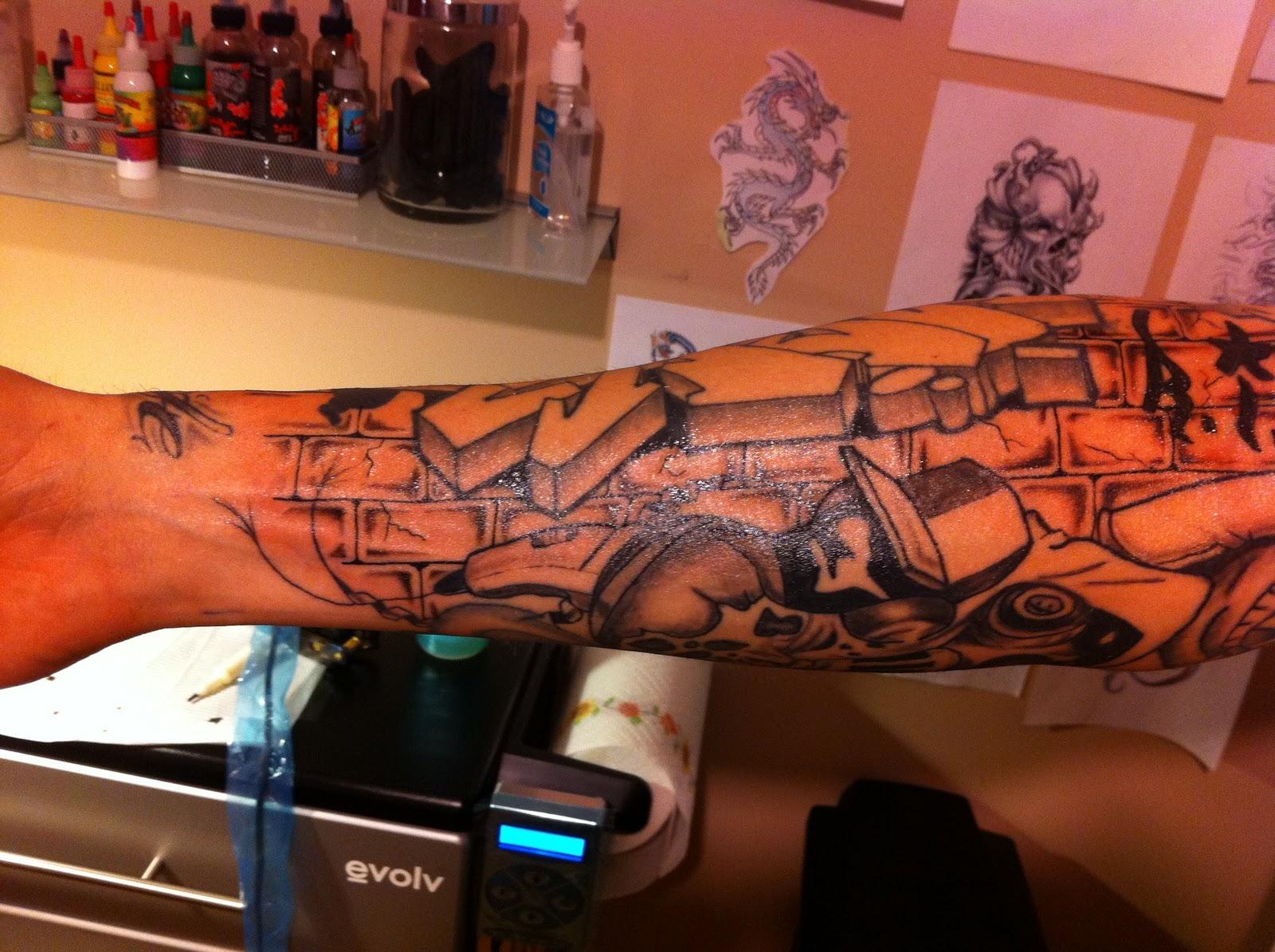 Tattoo Life: Brick background