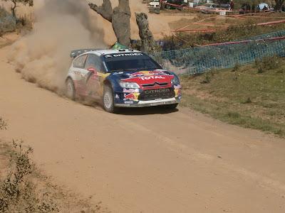 Sebastien Loeb, o grande vencedor do dia. Foi no troço de Almodôvar que conseguiu conquistar mais segundos a Hirvonen
