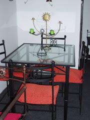 Mesa de hierro y 4 sillas, modelo a eleccióm