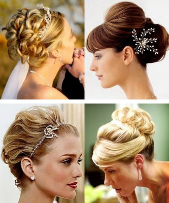 Classic wedding hairstyles. Bridal headbands tend to have more structure