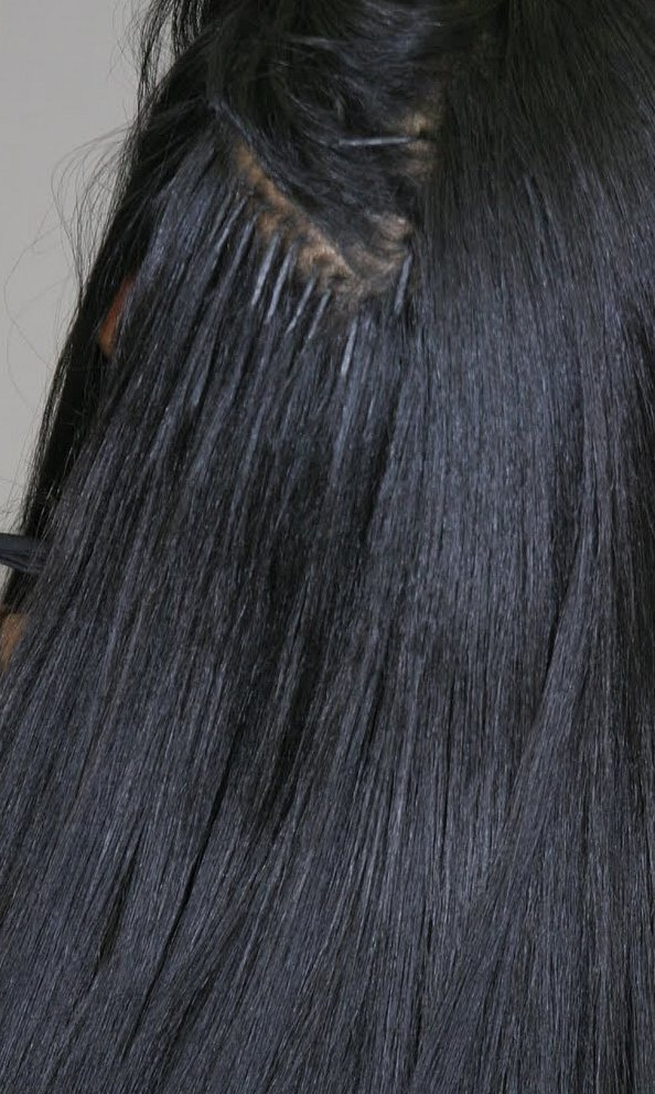 Black Hair Fusion Extension Human Hair Extensions