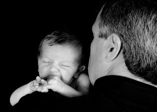 Southlake baby photography example of baby and dad portrait in studio