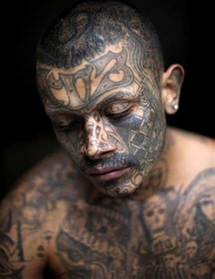 Criminal tattoo prison tattoo gang tattoo for Prison tattoo pictures