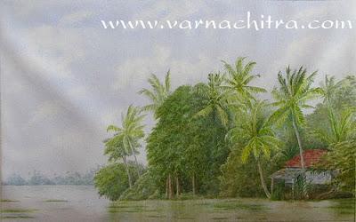 kuttanad landscape painting