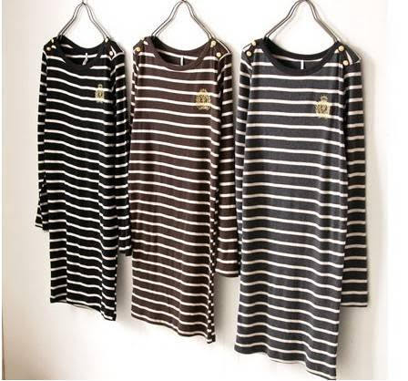 """GERMAINE\""(EXOTICS BOLD NAUTICAL STRIPE TOP)"