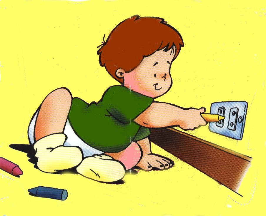 Dibujos infantiles prevenci n de accidentes colorear for Iluminar jardin sin electricidad