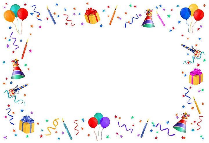 Bordes para tarjetas cumpleaños - Imagui