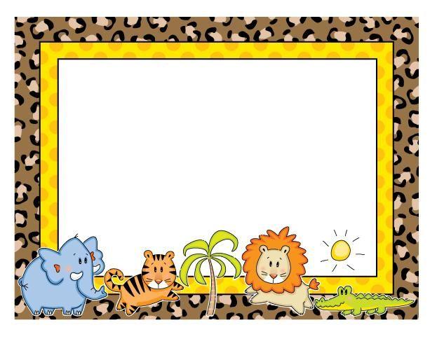 Bordes decorativos infantiles DE ANIMALES - Imagui